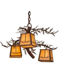 Pine Branch Valley View 3 LT Chandelier by