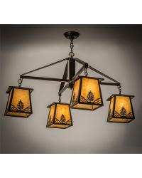 Stillwater Mountain Pine 4 LT Chandelier by