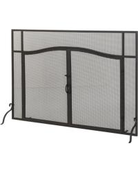 Prime Operable Door Arched Fireplace Screen by