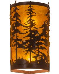 Tall Pines Corner Wall Sconce by