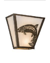Leaping Trout Wall Sconce by