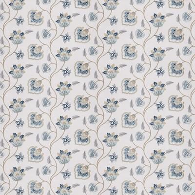 Fabricut Fabrics TILT FLORAL MARINE Fabricut Fabrics