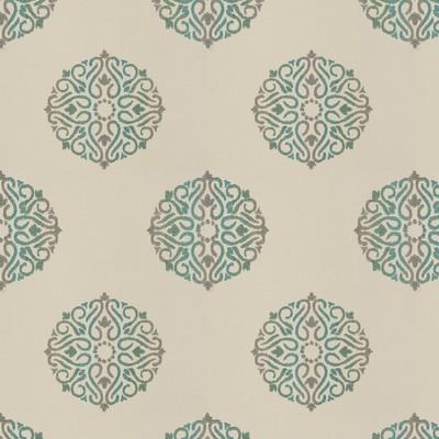 Fabricut Fabrics DOOZY MEDALLION TEAL Fabricut Fabrics