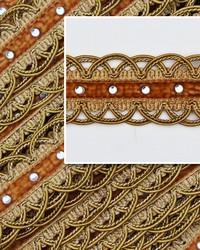 Novel Scallop Gold Fabric
