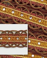 Novel Scallop Cinnamon Fabric