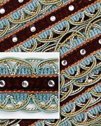 Novel Scallop Turquoise Fabric