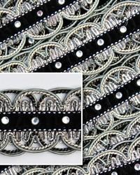 Novel Scallop Black  White Fabric