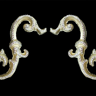 Novel Curtain Rods O Arm Scrolls Silver Gold Search Results