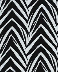 Novel Zebra Black  White Fabric
