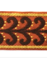Novel Tanner Chocolate Rust Fabric