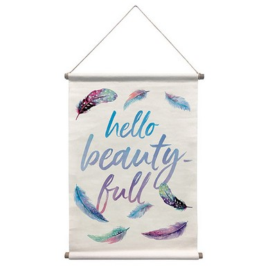 Wall Pops Beautiful Wall Tapestry  Multicolor Words and Phrases
