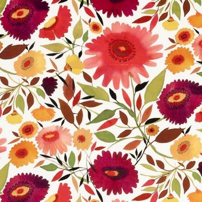 Clarke and Clarke Zinnias Velvet 1 AUTUMN Clarke and Clarke Fabrics