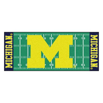 Fan Mats  LLC Michigan Wolverines Field Runner Rug  Search Results