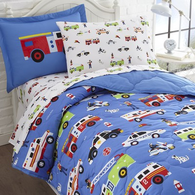 Olive Kids Olive Kids Heroes 7 pc Bed in a Bag - Full Blue Search Results