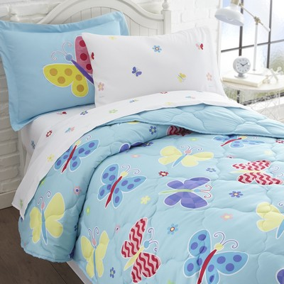 Olive Kids Olive Kids Butterfly Garden 7 pc Bed in a Bag - Full Blue Search Results