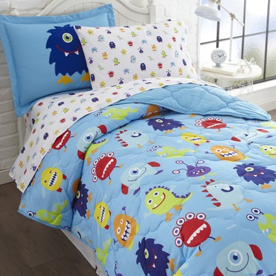Olive Kids Olive Kids Monsters 7 pc Bed in a Bag - Full Blue Search Results