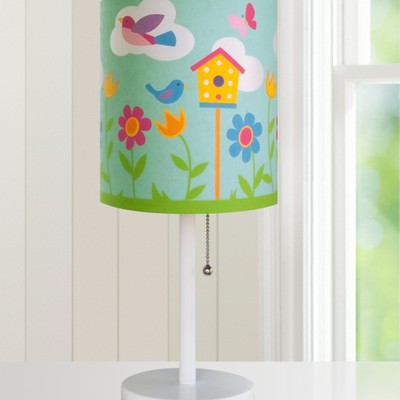 Olive Kids Olive Kids Birdie Cylinder Lamp Pink Kids Lamps and Shades