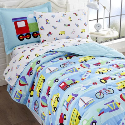 Olive Kids Olive Kids On the Go 5 pc Bed in a Bag - Twin Blue Search Results