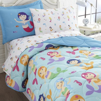Olive Kids Olive Kids Mermaids 5 pc Bed in a Bag - Twin Blue Search Results