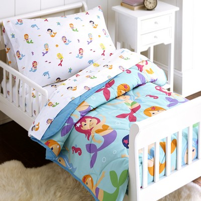 Olive Kids Olive Kids Mermaids 4 pc Bed in a Bag - Toddler Blue Search Results