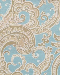 Duralee 72084 50 Natural/blue Fabric