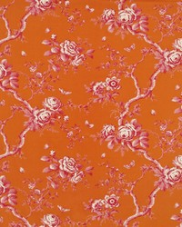 Ralph Lauren Ashfield Twill Flora Flame Fabric