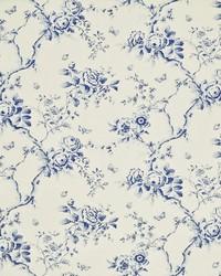 Ralph Lauren Ashfield Twill Flora Delft Blue Fabric