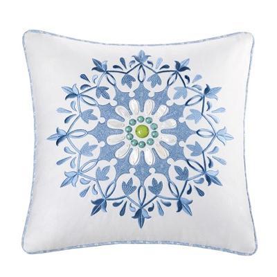Hampton Hill Sardinia Square Pillow white Search Results
