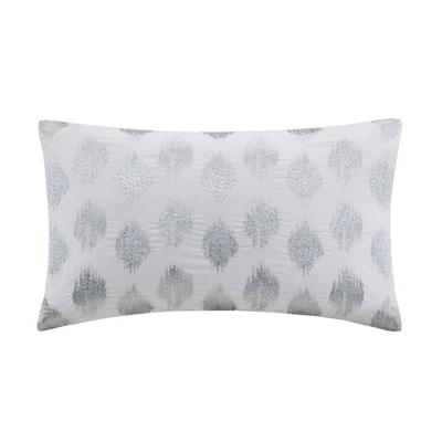 Hampton Hill Nadia Dot Embroidered Oblong Pillow Silver Search Results