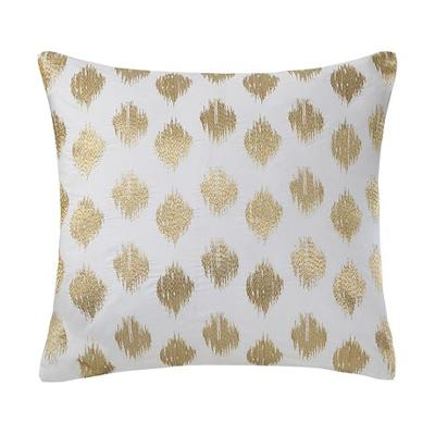Hampton Hill Nadia Dot Embroidered Square Pillow Gold Search Results