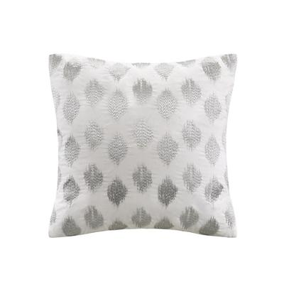 Hampton Hill Nadia Dot Embroidered Square Pillow Silver Search Results