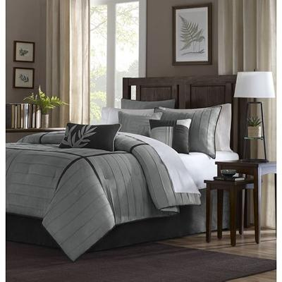 Hampton Hill Madison Park Connell Comforter Set Grey Search Results