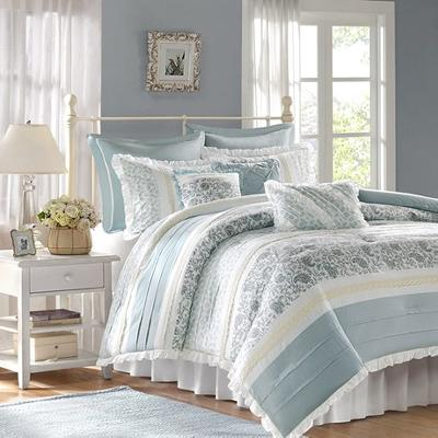 Hampton Hill Madison Park Dawn Comforter Set Blue Search Results