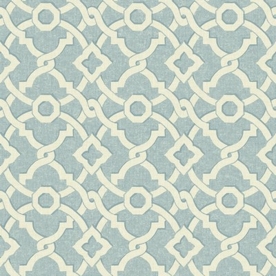 Waverly Wallpaper Global Chic Artistic Twist Wallpaper cream, light blue Ethnic and Global