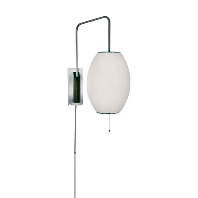 Lamp Works Cigar Swingarm Wall Sconce In White Satin Nickel Wall Sconces