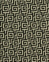 Robert Allen Square Maze Ink Fabric