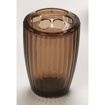 Carnation Home Fashions  Inc Brown Rib-Textured Toothbrush Holder Brown Search Results