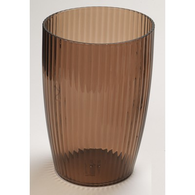 Carnation Home Fashions  Inc Brown Rib-Textured Waste Basket Brown Search Results