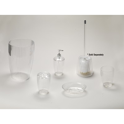 Carnation Home Fashions  Inc Clear Ribbed 5 Piece Acrylic Bath Accessory Set Clear Search Results