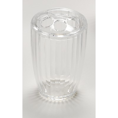 Carnation Home Fashions  Inc Clear Rib-Textured Toothbrush Holder Clear Search Results