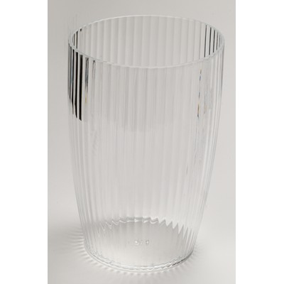 Carnation Home Fashions  Inc Clear Rib-Textured Waste Basket Clear Search Results