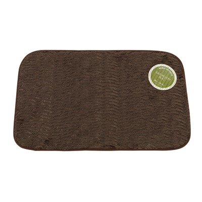 Carnation Home Fashions  Inc Sable Brown Faux Fur Bath Mat Brown Search Results