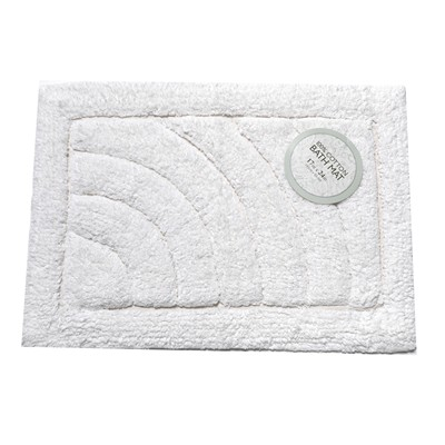 Carnation Home Fashions  Inc Medium-Sized Cotton Bath Mat in White White Search Results