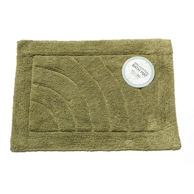 Carnation Home Fashions  Inc Medium-Sized Cotton Bath Mat in Sage Sage Search Results