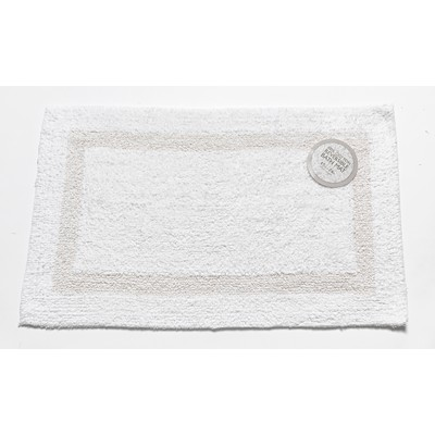 Carnation Home Fashions  Inc Large-Sized Reversible Cotton Bath Mat in White White Search Results
