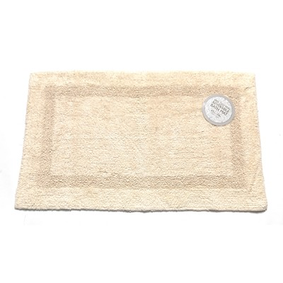 Carnation Home Fashions  Inc Medium-Sized Reversible Cotton Bath Mat in Ivory  Ivory Search Results