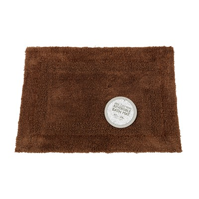 Carnation Home Fashions  Inc Medium-Sized Reversible Cotton Bath Mat in Brown Brown Search Results