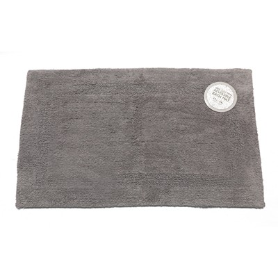 Carnation Home Fashions  Inc Medium-Sized Reversible Cotton Bath Mat in Pewter Pewter Search Results