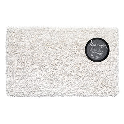 Carnation Home Fashions  Inc Shaggy Cotton Chenille Bath Room Rug Size  21x34 in White White Search Results
