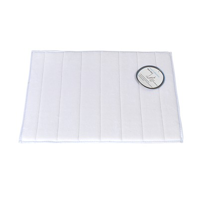 Carnation Home Fashions  Inc Medium-Sized Memory Foam Bath Mat in White White Search Results